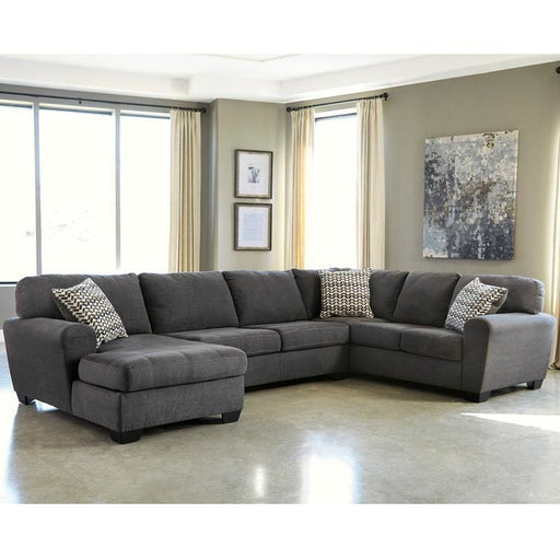 Benchcraft Sorenton 3-Piece Raf Sofa Sectional In Slate Fabric - Living Room Sectionals