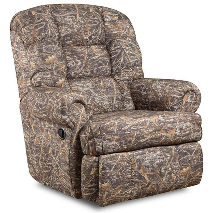 Big & Tall 350 Lb. Capacity Camouflaged Encore Conceal Brown Fabric Recliner - Recliners