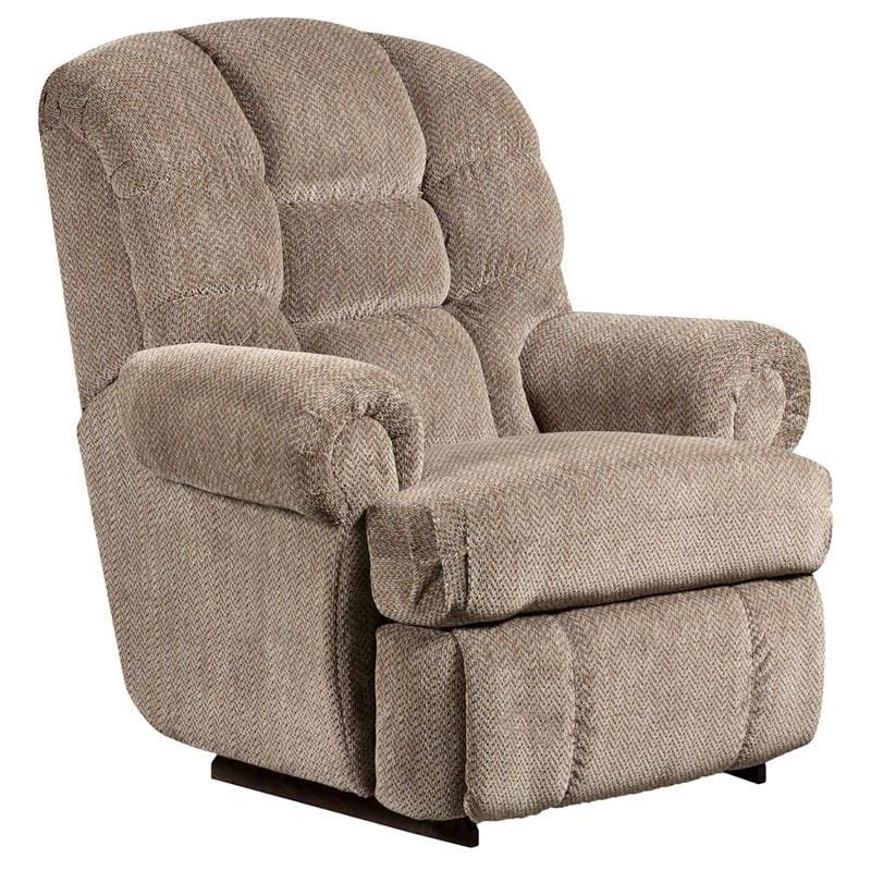 Big & Tall 350 Lb. Capacity Gazette Pewter Microfiber Recliner - Recliners