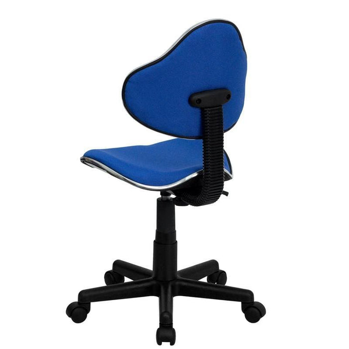 Blue Fabric Ergonomic Swivel Task Chair - Office Chairs