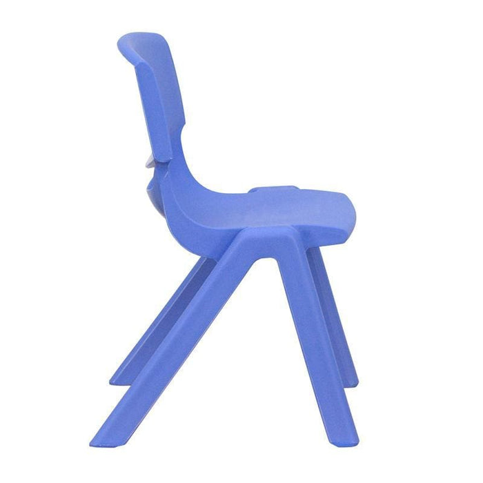 Blue Plastic Stackable School Chair With 12 Seat Height - Stack Chairs