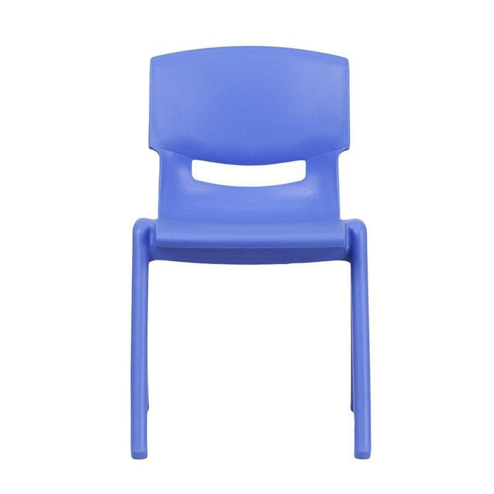 Blue Plastic Stackable School Chair With 13.25 Seat Height - Stack Chairs