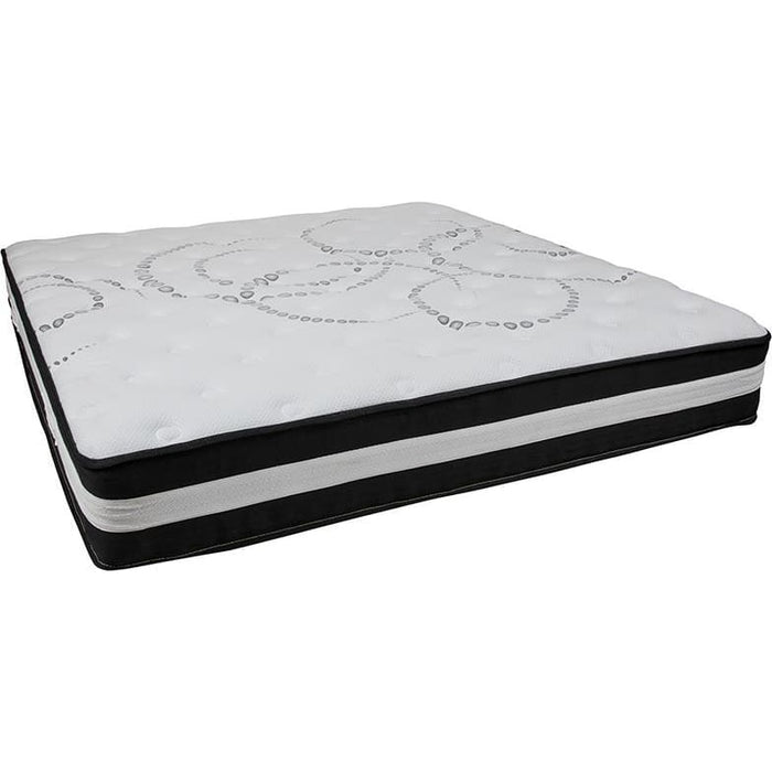 Capri Comfortable Sleep 12 Inch Foam And Pocket Spring Mattress King In A Box - Mattresses