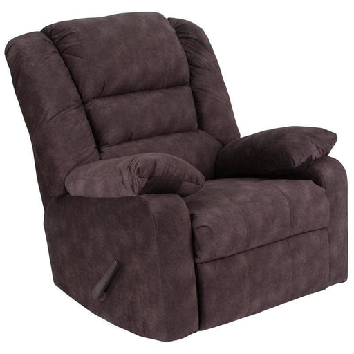 Contemporary Super Soft Cody Chocolate Microfiber Rocker Recliner - Recliners