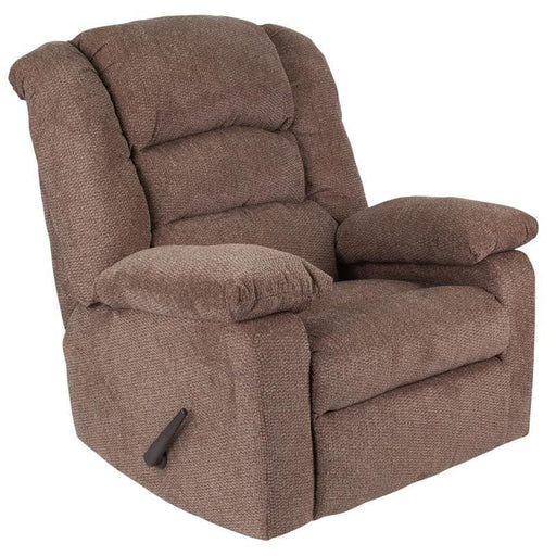 Contemporary Super Soft Jesse Cocoa Chenille Rocker Recliner - Recliners