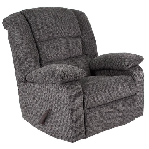 Contemporary Super Soft Jesse Pepper Chenille Rocker Recliner - Recliners
