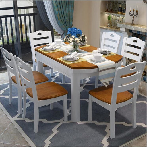Country Charm Solid Wood Dining Table Set