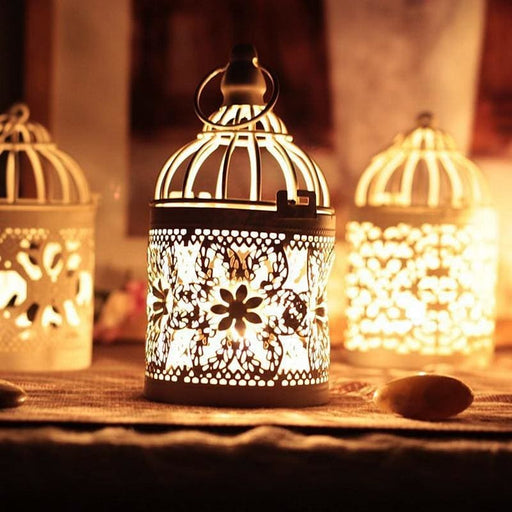 Decorative Moroccan Hanging Lantern Votive Candle Holders - Decor
