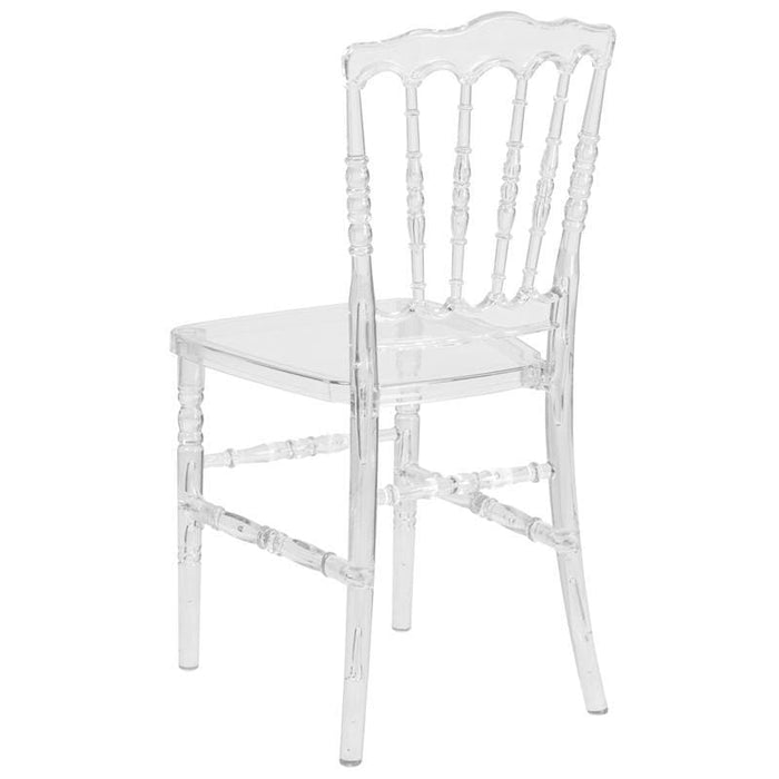 Flash Elegance Crystal Ice Napoleon Stacking Chair - Chiavari Chairs