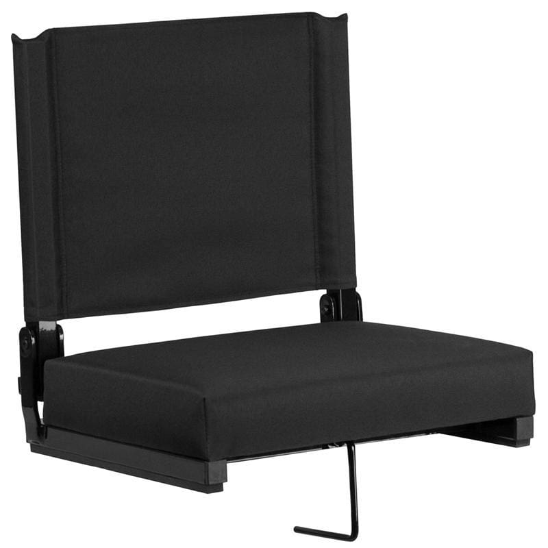 Grandstand Comfort Seats By Flash With Ultra-Padded Seat In Black - Outdoor Rec Chairs