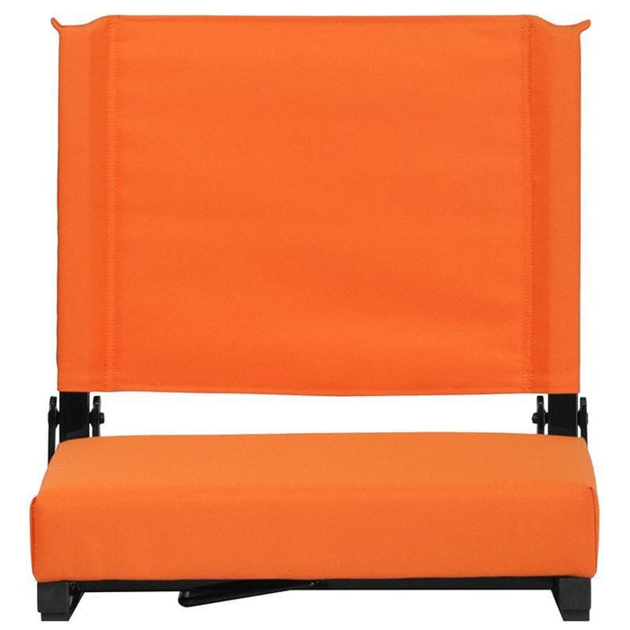Grandstand Comfort Seats By Flash With Ultra-Padded Seat In Orange - Outdoor Rec Chairs