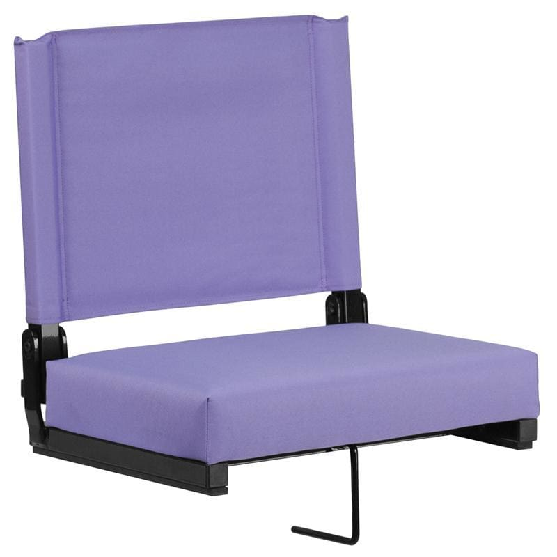 Grandstand Comfort Seats By Flash With Ultra-Padded Seat In Purple - Outdoor Rec Chairs