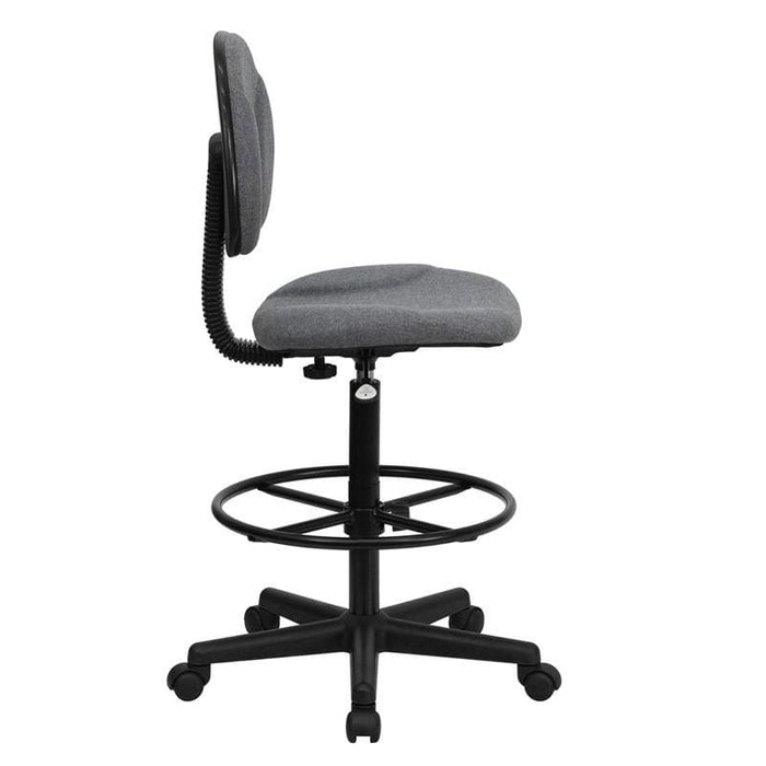 Gray Fabric Drafting Chair (Cylinders: 22.5-27H Or 26-30.5H) - Office Chairs