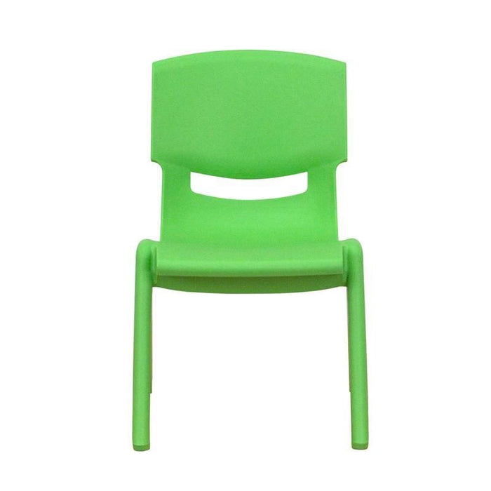 Green Plastic Stackable School Chair With 10.5 Seat Height - Preschool Stack Chairs
