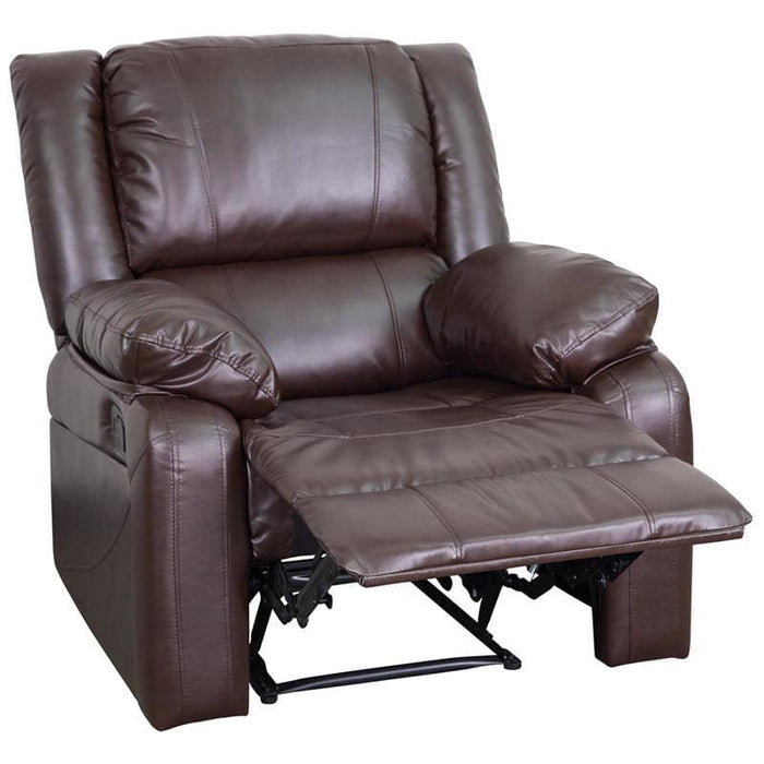 Harmony Series Brown Leather Recliner - Recliners