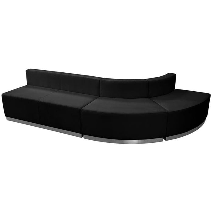 Hercules Alon Series Black Leather Reception Configuration 3 Pieces - Reception Furniture Sets