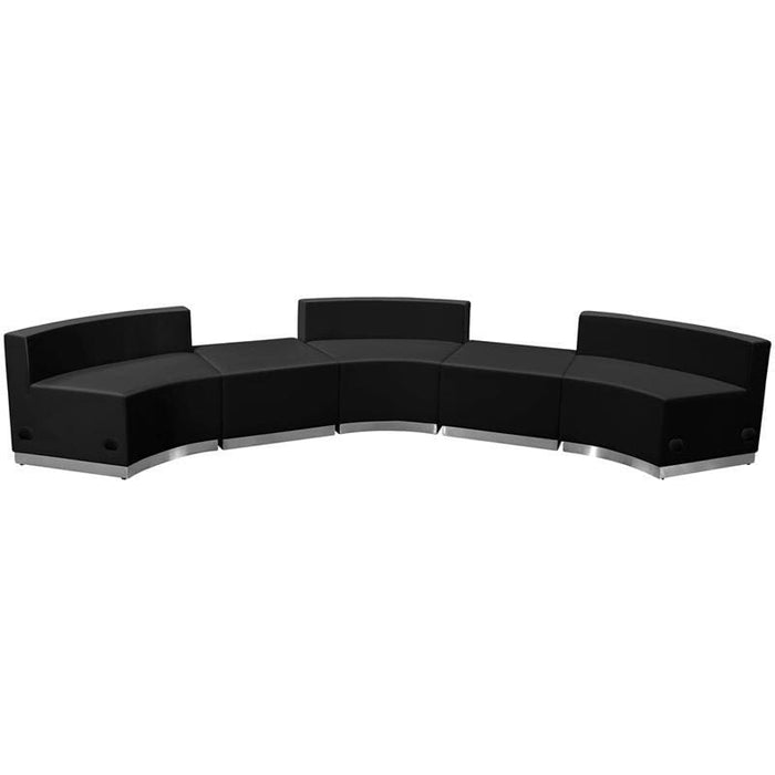 Hercules Alon Series Black Leather Reception Configuration 5 Pieces - Reception Furniture Sets