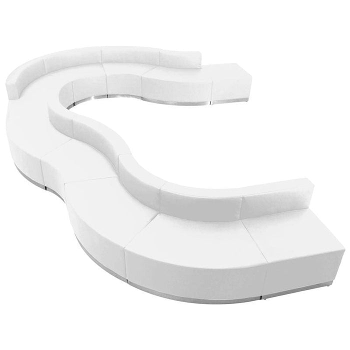 Hercules Alon Series Melrose White Leather Reception Configuration 11 Pieces - Reception Furniture Sets