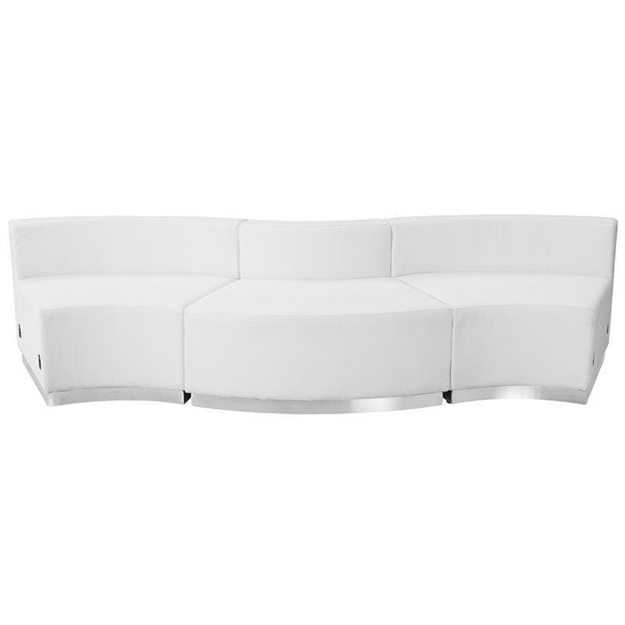 Hercules Alon Series Melrose White Leather Reception Configuration 3 Pieces - Reception Furniture Sets