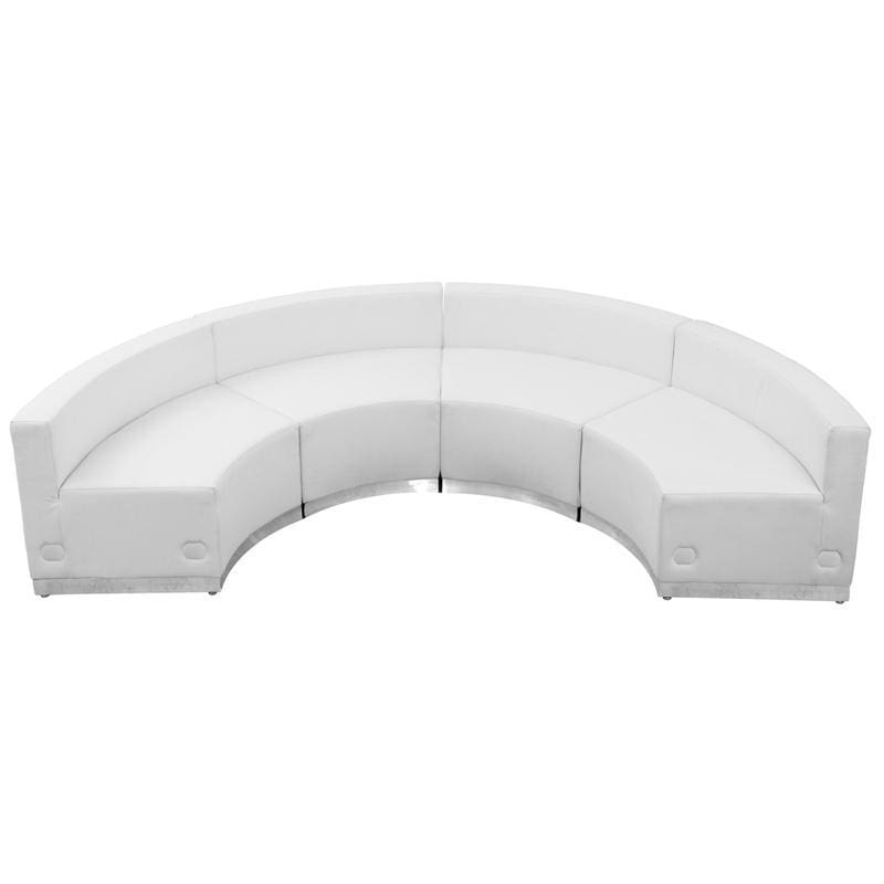 Hercules Alon Series Melrose White Leather Reception Configuration 4 Pieces - Reception Furniture Sets
