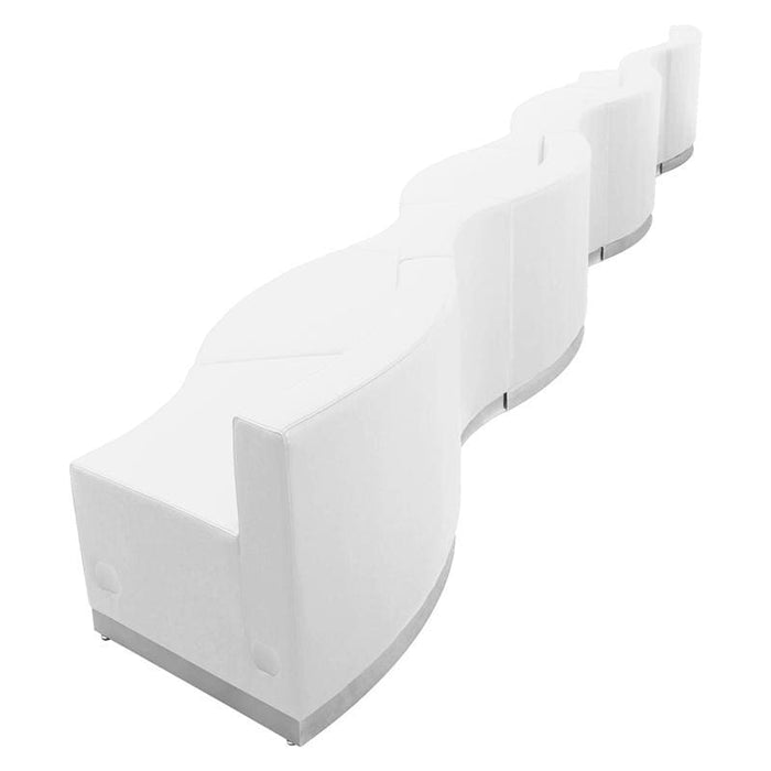 Hercules Alon Series Melrose White Leather Reception Configuration 7 Pieces - Reception Furniture Sets