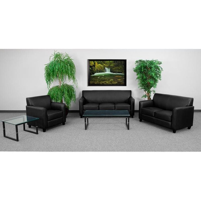 Hercules Diplomat Series Reception Set In Black - Reception Furniture Sets