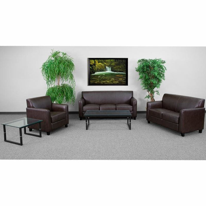 Hercules Diplomat Series Reception Set In Brown - Reception Furniture Sets