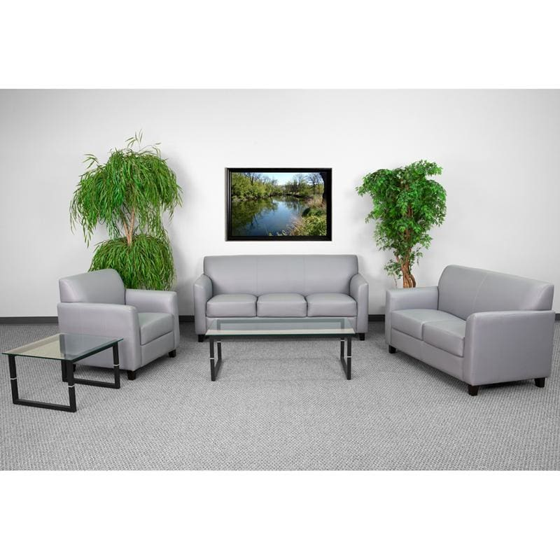 Hercules Diplomat Series Reception Set In Gray - Reception Furniture Sets