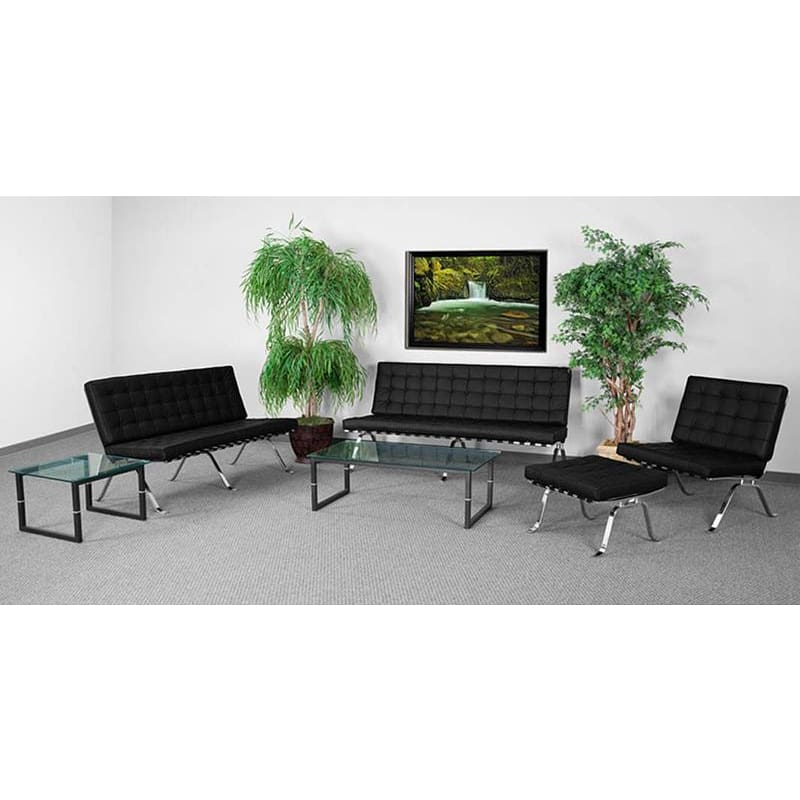 Hercules Flash Series Reception Set In Black - Reception Furniture Sets