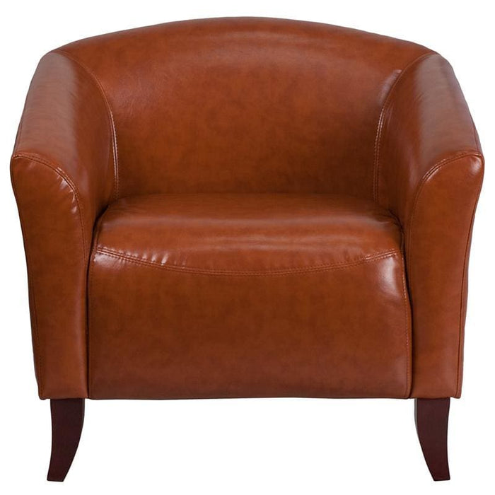 Hercules Imperial Series Cognac Leather Chair - Reception Furniture - Chairs