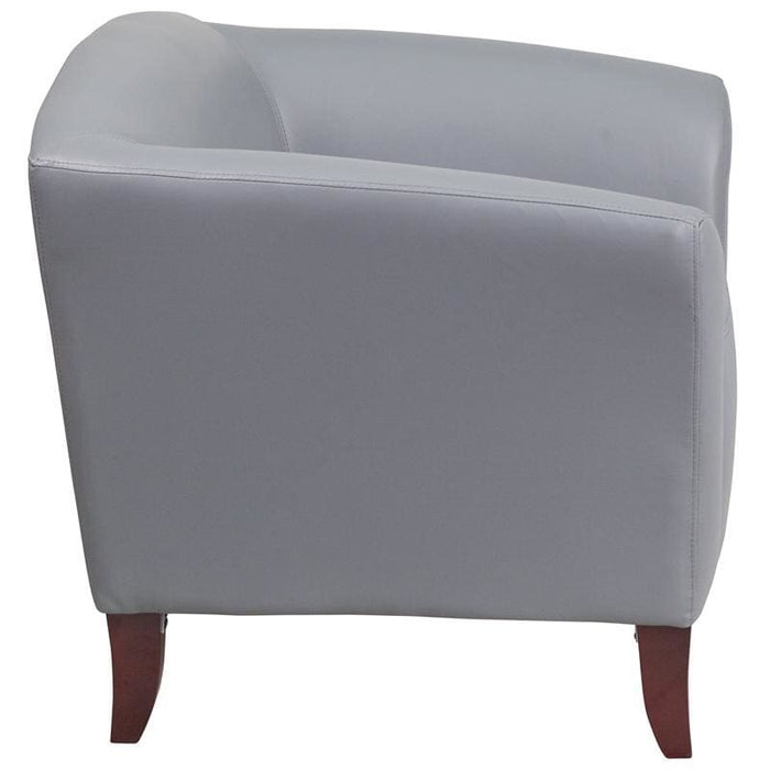 Hercules Imperial Series Gray Leather Chair - Reception Furniture - Chairs