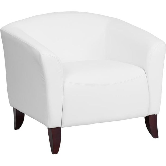 Hercules Imperial Series White Leather Chair - Reception Furniture - Chairs