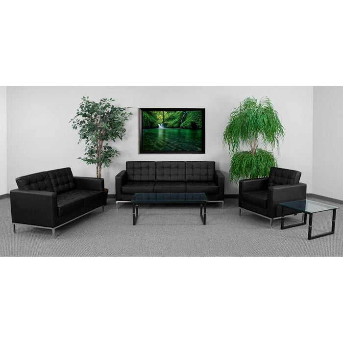 Hercules Lacey Series Reception Set In Black - Reception Furniture Sets