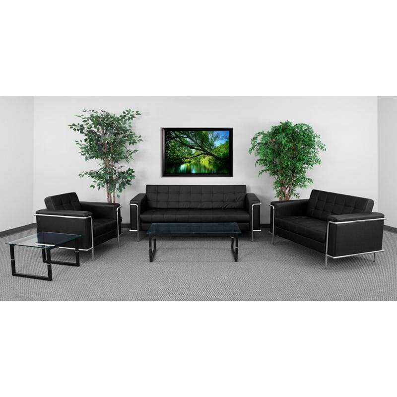 Hercules Lesley Series Reception Set In Black - Reception Furniture Sets