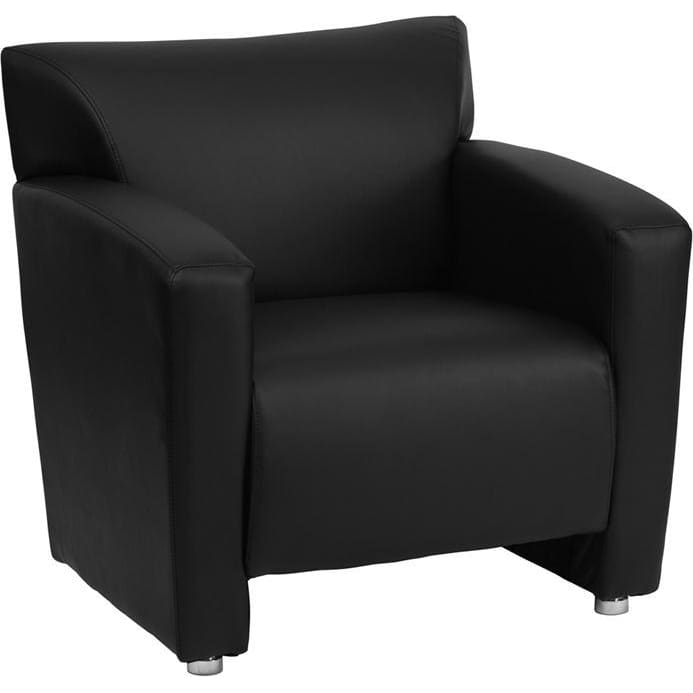 Hercules Majesty Series Black Leather Chair - Reception Furniture - Chairs