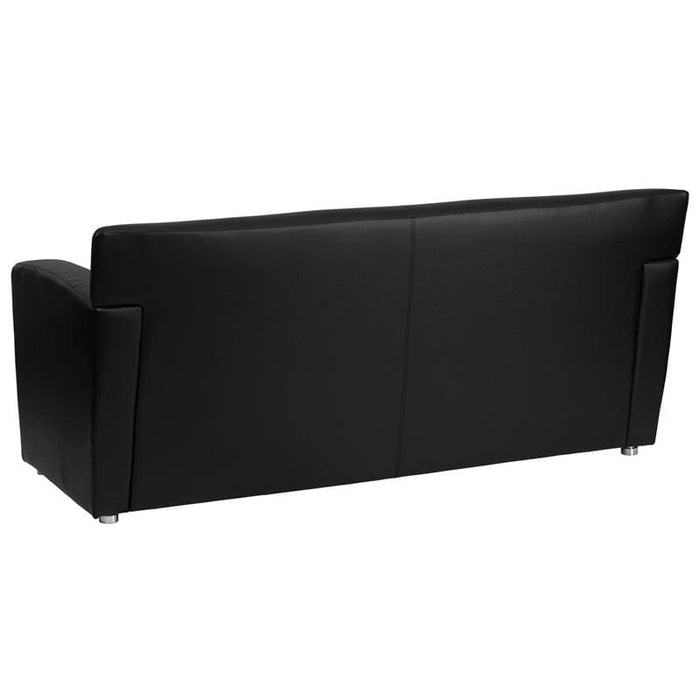 Hercules Majesty Series Black Leather Sofa - Reception Furniture - Sofas