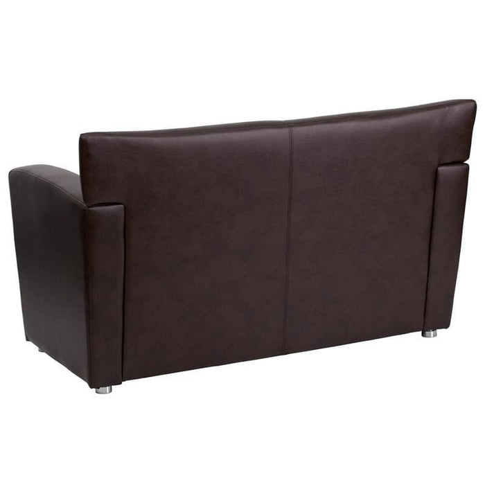 Hercules Majesty Series Brown Leather Loveseat - Reception Furniture - Loveseats