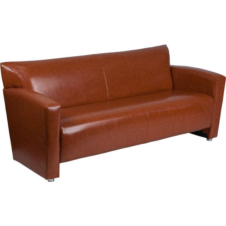 Hercules Majesty Series Cognac Leather Sofa - Reception Furniture - Sofas