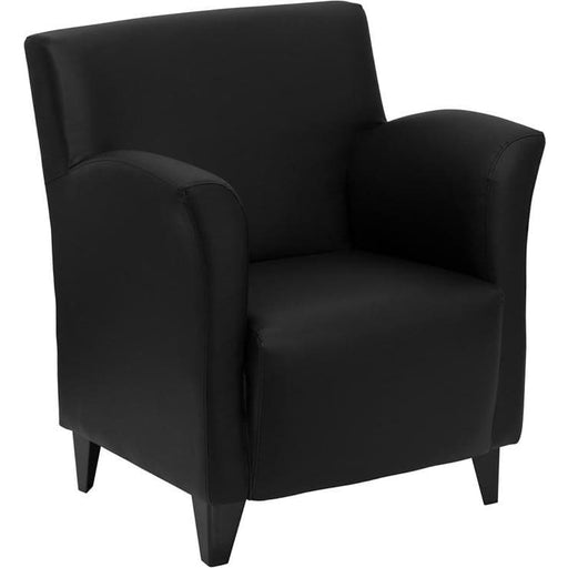 Hercules Roman Series Black Leather Lounge Chair - Reception Furniture - Chairs