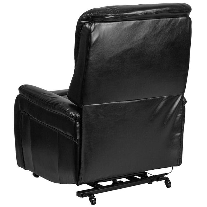 Hercules Series Black Leather Remote Powered Lift Recliner - Recliners