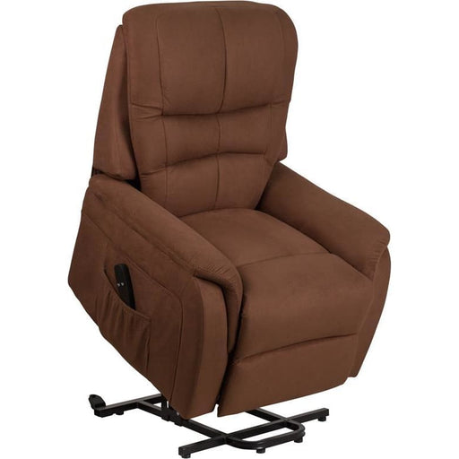 Hercules Series Brown Microfiber Remote Powered Lift Recliner - Recliners