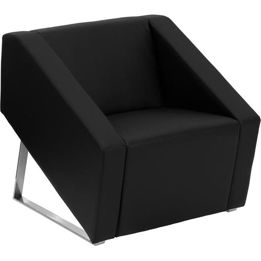 Hercules Smart Series Black Leather Lounge Chair - Reception Furniture - Chairs