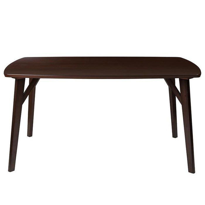 Holden 35.5 X 59 Rectangular Espresso Finish Wood Dining Table With Clean Lines And Braced Legs - Dinette Tables