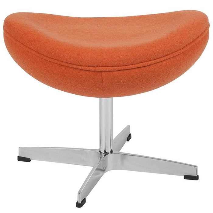 Orange Wool Fabric Ottoman - Reception Furniture - Ottoman