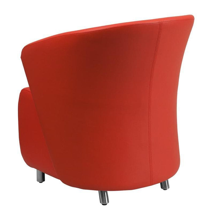 Red Leather Lounge Chair - Reception Furniture - Chairs