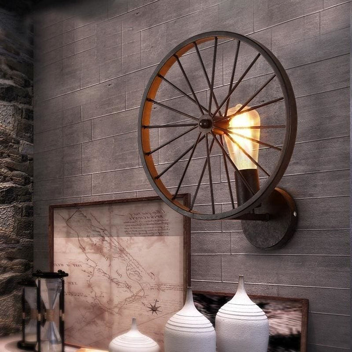 Retro Loft Style Iron Rural Industrial Wall Lamp Wall Sconce Light Lighting Fixtures Porch Hallway - Lighting