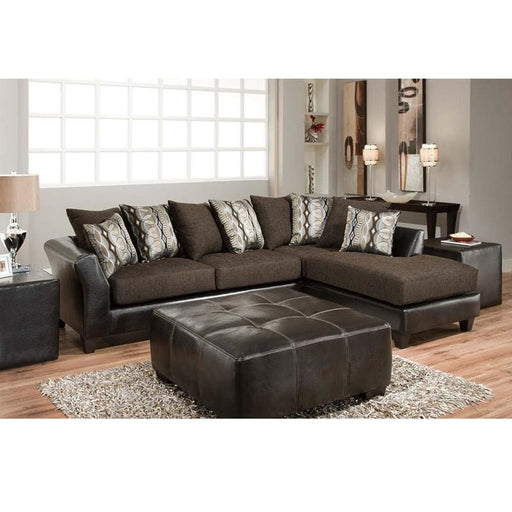 Riverstone Rip Sable Chenille Sectional - Living Room Sectionals