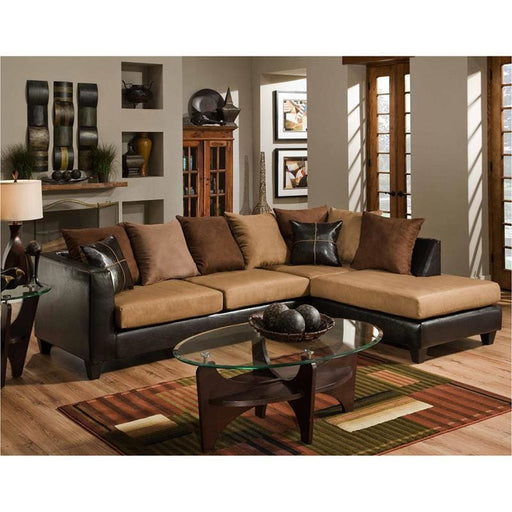 Riverstone Sierra Chocolate Microfiber Sectional - Living Room Sectionals