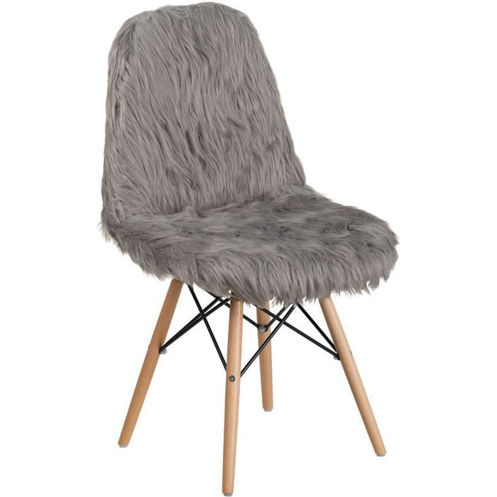 Shaggy Dog Charcoal Gray Accent Chair - Chiavari Chairs