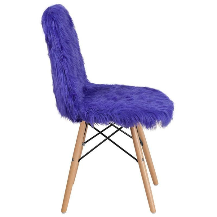 Shaggy Dog Dark Blue Accent Chair - Chiavari Chairs